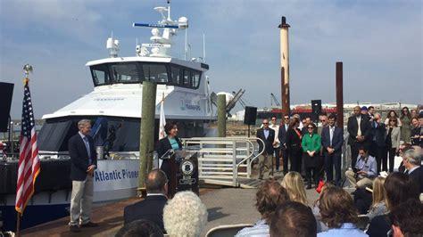 pioneer boats rhode island first american wind farm service vessel christened
