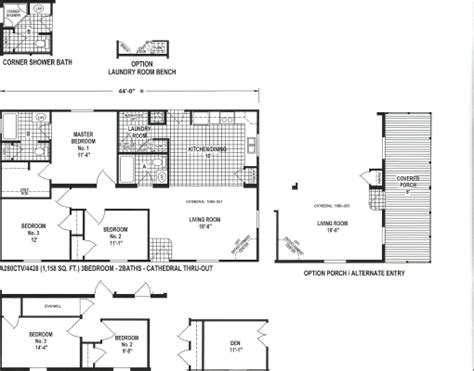Section Manufactured Homes by Single Wide Multi Section Manufactured Modular Homes