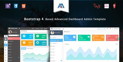 30 Bootstrap Admin Dashboard Templates Free Download Premium Templateflip Bootstrap 4 Admin Template
