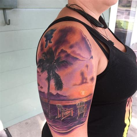 beach scene tattoo designs 21 sunset designs ideas design trends premium