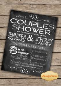 chalkboard invitation you print or i print couples shower