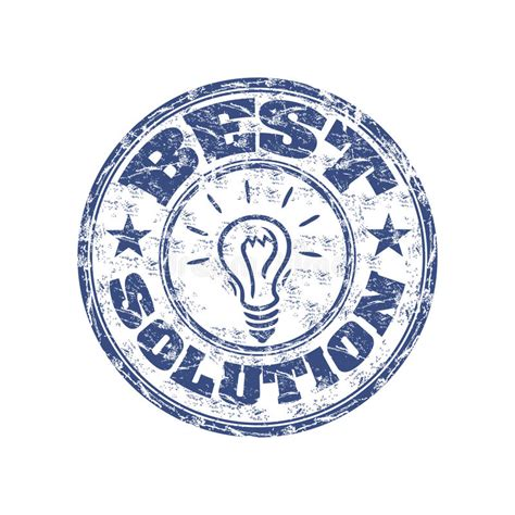 best solution best solution rubber st stock vector image of best