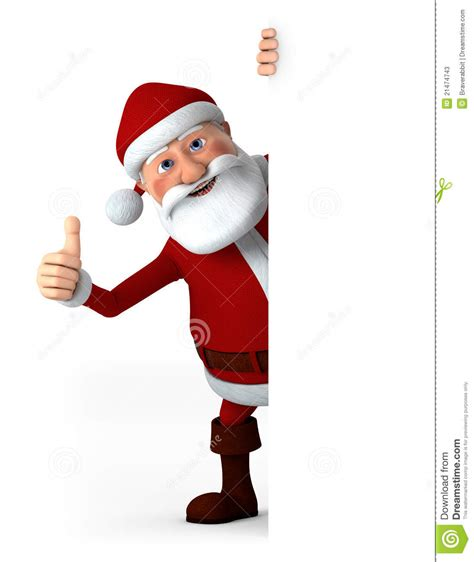 santa claus thumbs up thumbs up santa with blank sign stock illustration image 21474743