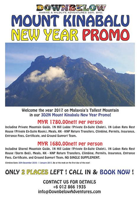 anz new year promotion 2016 mount kinabalu new year promo downbelow adventures borneo