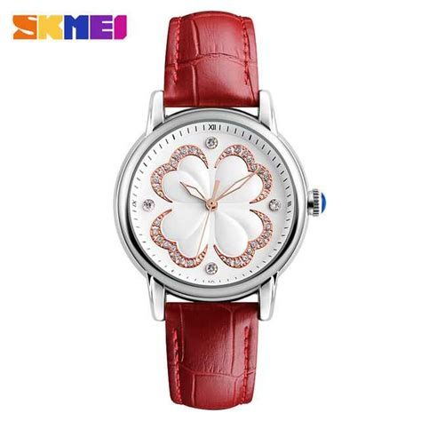 Skmei Casual Leather 9086cl Hitam jual jam tangan wanita skmei casual leather original 9159 merah