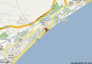 us map myrtle map of reef resort myrtle