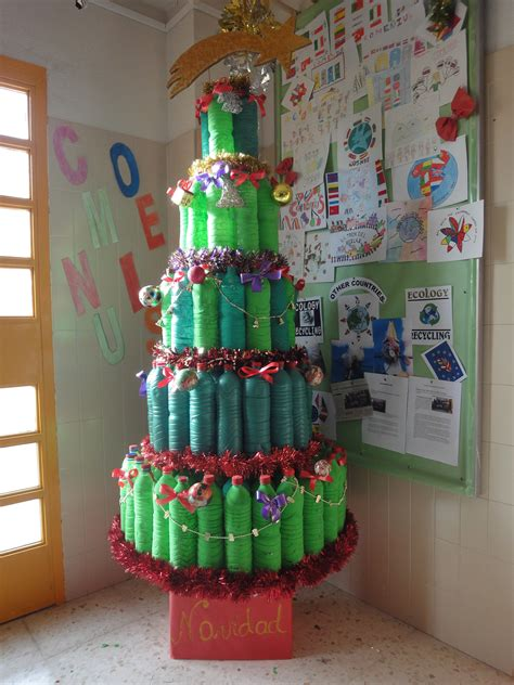 christmas decoration using recycled materials wasted materials works san bartolome school