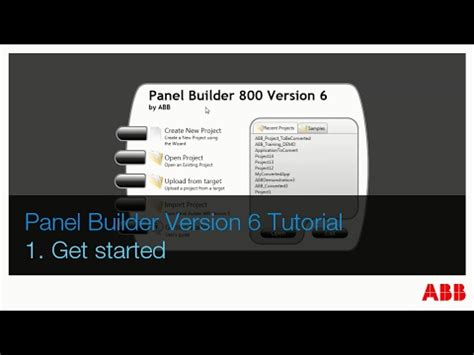php coding tutorial getting started youtube abb panel builder v6 tutorial part 1 get started youtube