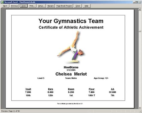 gymnastics certificate template pin pin gymnastics certificates for on on