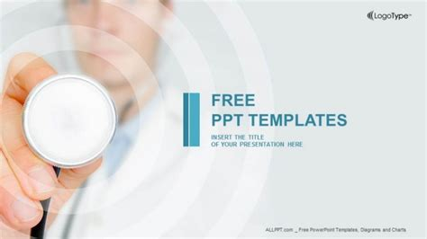 templates powerpoint free download health doctor hand with stethoscope powerpoint templates
