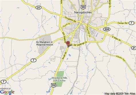 map of nacogdoches texas map of hton inn suites nacogdoches tx nacogdoches