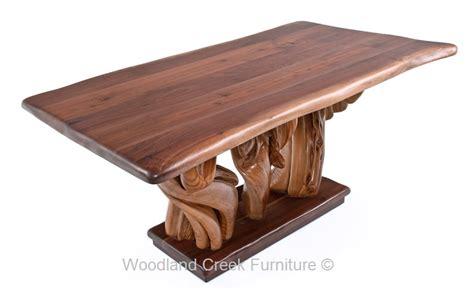 modern organic table natural tree stump driftwood branch