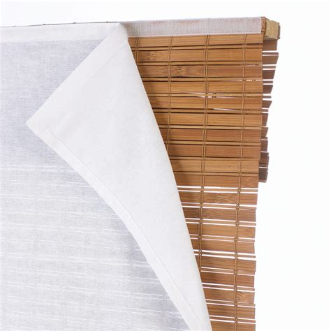 bamboo curtains home depot light filtering privacy liner for bamboo roman shade tube