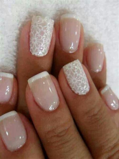 Wedding Bell Nail Design by Snowflake Nails Tip Acrylic Nails