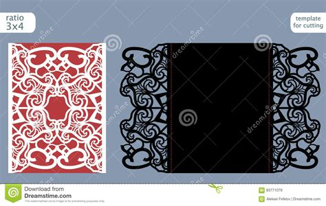 basic card cuts cardstock template laser cut wedding invitation card template vector die cut