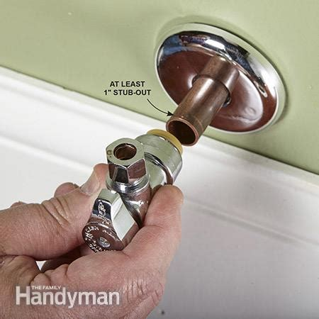How To Repair A Leaking Kitchen Faucet how to replace a shutoff valve the family handyman