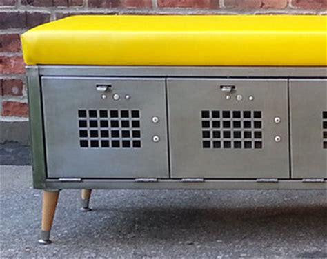 metal locker storage bench vintage brushed steel locker storage bench front room
