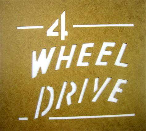 jeep logo stencil willys jeep parts q a quot 4 wheel drive quot paint stencil