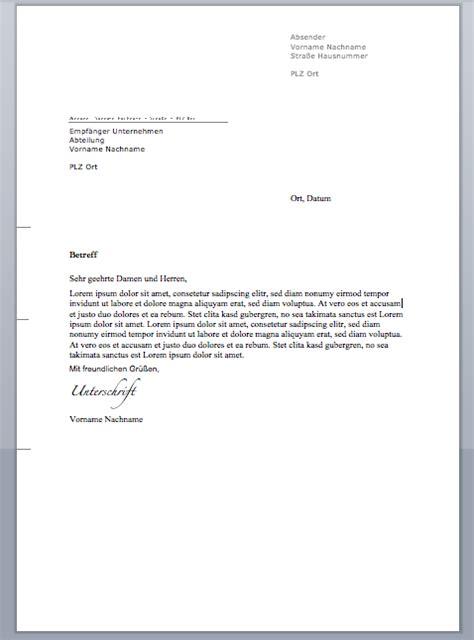 Deutschland Brief Beispiel Briefkopf Vorlage Muster Briefkopf Vorlage