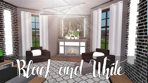 bloxburg black  white aesthetic room clipzuicom