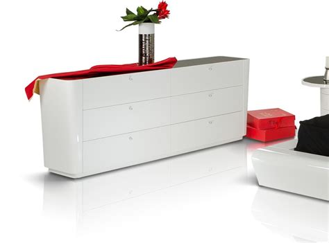 White Lacquer Dresser by Symphony Modern White Lacquer Dresser