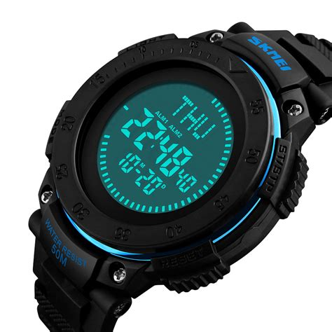 Tasbih Digital Murah Cod Ke Toko skmei jam tangan digital multifungsi pria 1236 black jakartanotebook