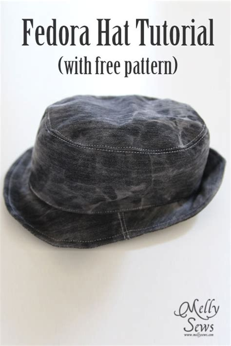 How To Make A Fedora Out Of Paper - fedora hat tutorial and pattern melly sews