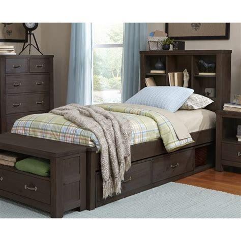 rosebery kids twin bookcase storage bed  espresso