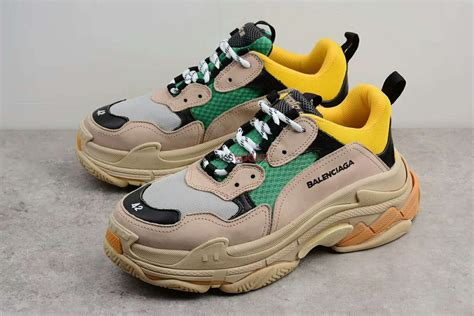 balenciaga s trainer shoes yellow green designer shoes in 2019 shoes shoes