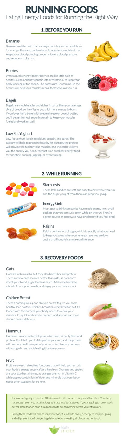 running foods energy foods for running the right way health ambition