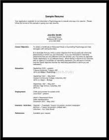 College Resume Objective Exles by College Internship Resume Objective Exles Document