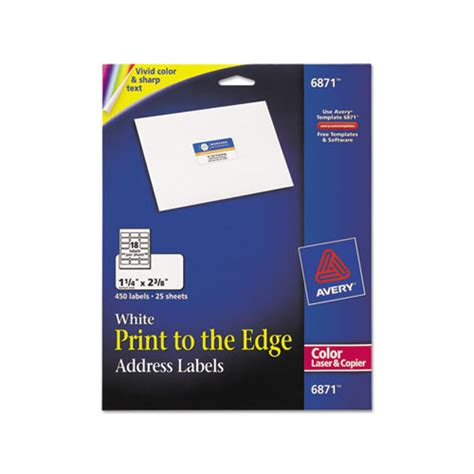 printing address labels online avery vibrant color printing address labels ave6871