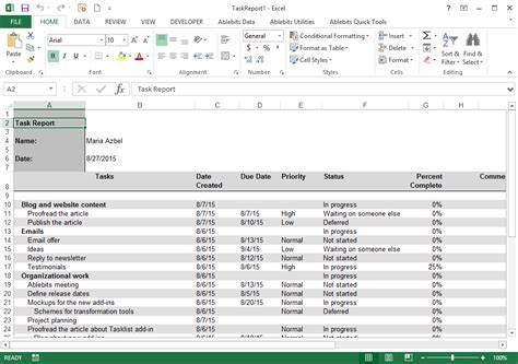tasklist for outlook display your outlook tasks in a