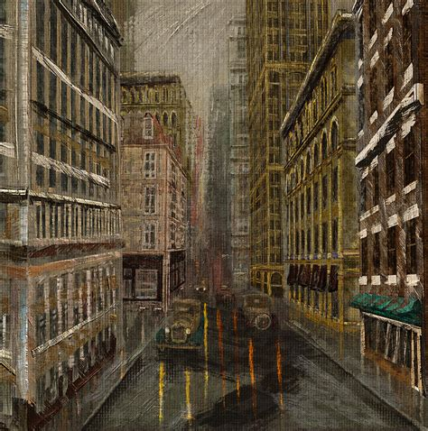 fade into the woodwork fade into city painting by dale nielsen