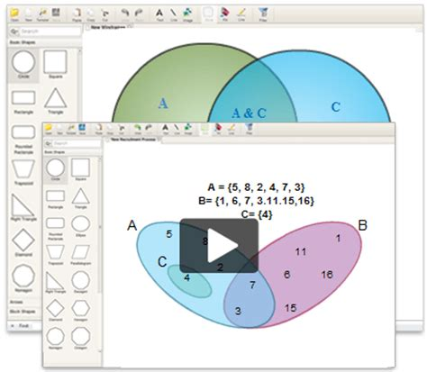 use diagram maker venn diagram maker to draw venn diagrams creately