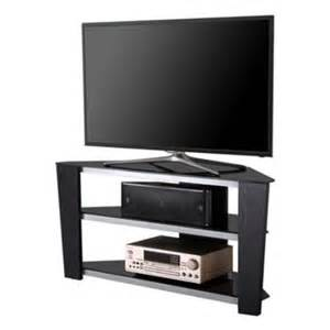 corner tv stands for 55 inch tv fitueyes fts312003gb black tempered glass corner tv stand