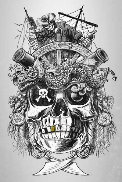 pirate face tattoo skull pirate tattoos pirate