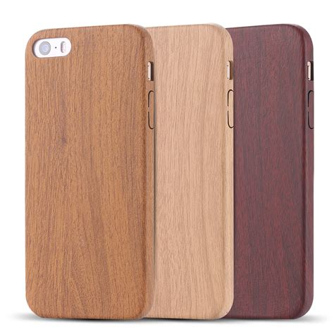 Iphone 6 Retro Bamboo Casing Iphone 6s retro vintage wood bambbo pattern leather pu cases for