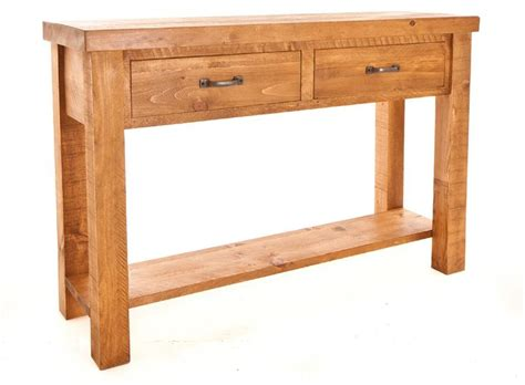 Pine Console Table Ramsbury Pine 2 Drawer Console Table