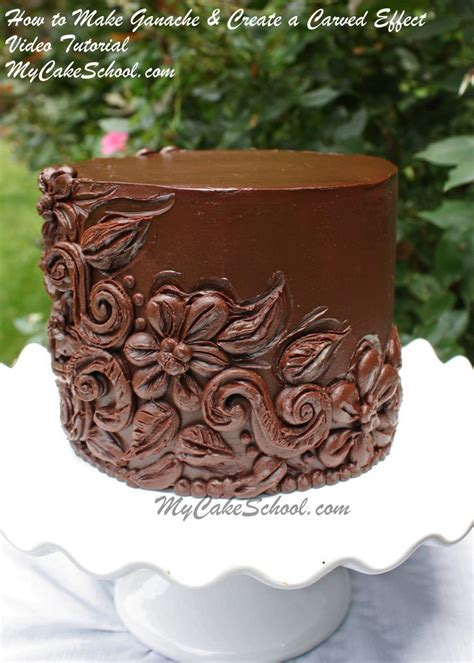 Chocolate Cake Decoration At Home How To Make Chocolate Ganache Create A Carved Effect