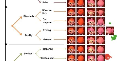 all acnl hairstyles with colours animal crossing new leaf shoodle s hair style guide