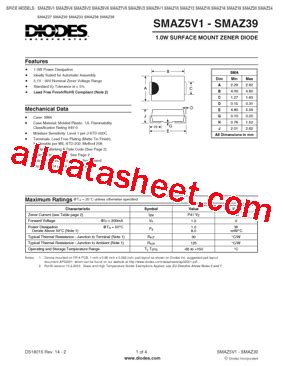 all zener diode datasheet pdf smaz24 13 f datasheet pdf diodes incorporated