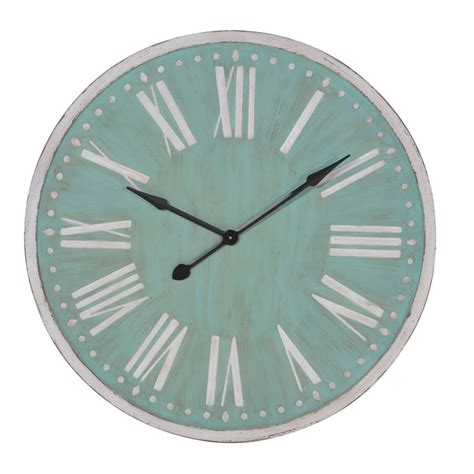 giant wall clock large wall clock in blue and white by out there interiors