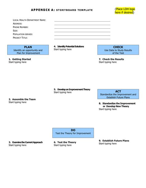 format lop doc storyboard template in word and pdf formats