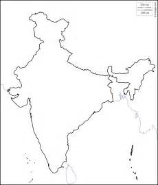 Blank Outline Political Map Of India by Blank Map India