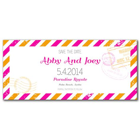 Perfectly Pretty Postage by Slim Save The Date Cards And Wedding Invitation Printing