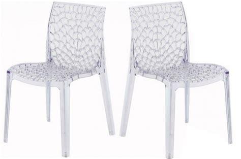 chaise transparentes lot de 2 chaises transparentes filet design sur sofactory