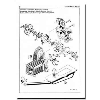 Sachs Motor Type 301 by Schreiber Zweiradshop De Ersatzteilliste Sachs 301 Ab 1