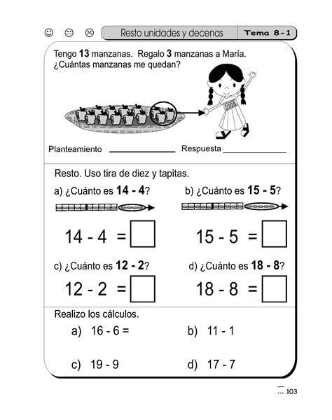 sumas y restas para ninos de primer grado restas para primer grado 1 material de aprendizajematerial