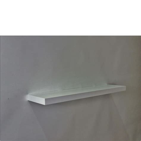 gloss white floating shelf 800x200x38mm mastershelf